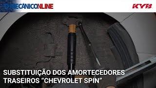Desmontagem e montagem dos amortecedores traseiros do Chevrolet Spin