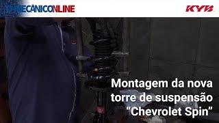 Desmontagem e montagem da torre de suspensão dianteira do Chevrolet Spin