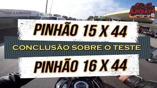 CONCLUSÃO SOBRE O TESTE DOS PINHÃO 15 E 16 COM COROA 44