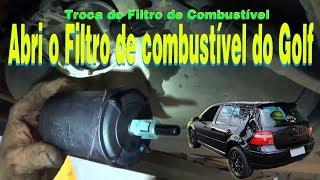 Como trocar o filtro de combustível Golf MK4 sapão - abri o filtro velho