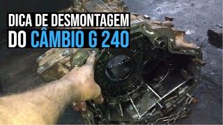 Lado da engrenagem da ré e dica de desmontagem do Câmbio G 240