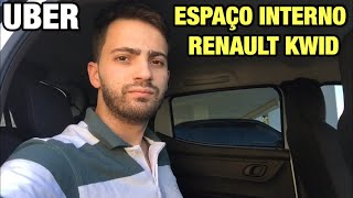 Renault Kwid espaço interno para passageiros!