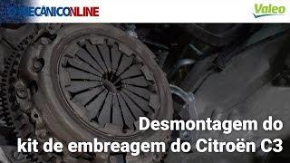Desmontagem do kit de embreagem do Citroën C3