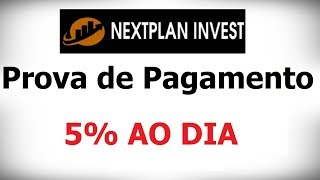 NextPlan - Prova de Pagamento - SEM MINIMO PARA SAQUE