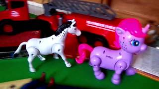 Animais da fazenda de brinquedo para crianças em português