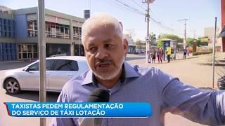 Taxistas pedem regulamentação do serviço de táxi lotação da Grande BH