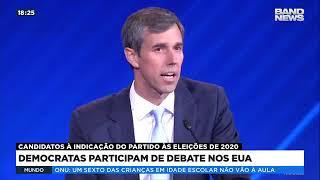 Democratas participam de debate nos EUA