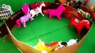 Cavalo de brinquedo para crianças Animais da fazenda de brinquedo