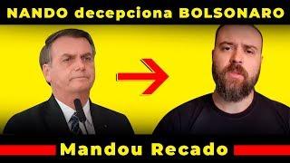 Jair Bolsonaro Não Gostou de Atitude e Criticou Nando Moura Ao Vivo