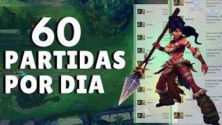 JOGADOR BRASILEIRO DE LEAGUE OF LEGENDS JOGA 60 PARTIDAS POR DIA E VENCE QUASE TODAS