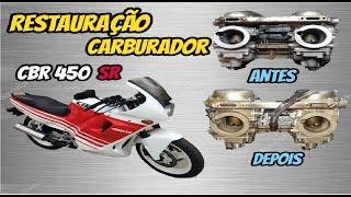 TALENTO NOS CARBURADORES DA CBR 450SR