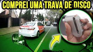 COMPREI UMA TRAVA DE DISCO PARA MINHA MOTO