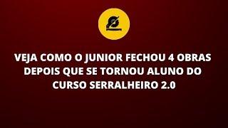 JULIO IMPROVISOU UMA OFICINA PARA TRABALHAR COM ESQUADRIAS DE ALUMINIO E FECHOU 4 OBRAS