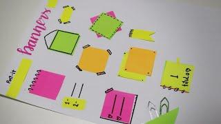 Como usar POST IT para decorar seu caderno por LIVIA STURNIK