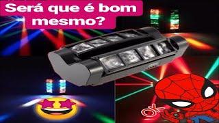 MINI SPIDER MOVING 8 LED ILUMINAÇÃO PARA FESTAS O QUE ACHEI!?
