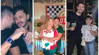 Lucas Guimarães comemora aniversário da sua mãe até o dia amanhece junto Carlinhos