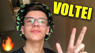VOLTEI COM O CANAL! + VLOG