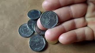 Moedas raríssimas  da primeira família do real pode valer até 100 reais cada