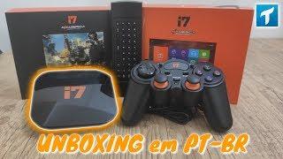 Novo AZAMERICA i7 Lançamento 2020 (Unboxing em PT-BR) - IPTV com JOGOS e o Primeiro com GAMEPAD