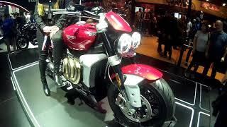 TRIUMPH no Salão Duas Rodas 2019! Rocket 3, Bonneville T100 Black, Street Triple, Triumph Moto 2.