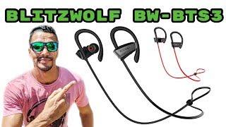 BLITZWOLF BW-BTS3 - UM FONE BLUETOOTH ESPORTIVO E EXAGERADO NOS GRAVES - UNBOXING E REVIEW!